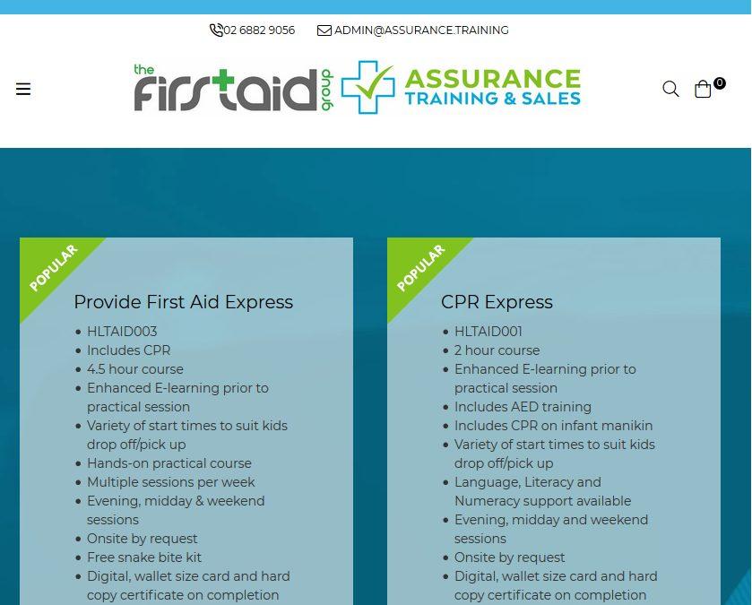 Assurance Training & Sales